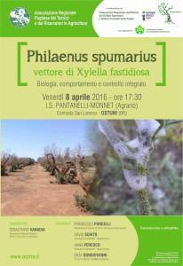 Philaenus spumarius vettore di Xylella fastidiosa - Biologia, comportamento e controllo integrato